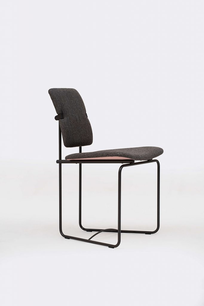 chair brown front view